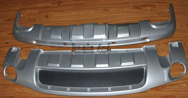 VW TOUAREG 08-10 FRONT & REAR PROTECTOR COVER BUMPER COVER REAR SKID PLATE