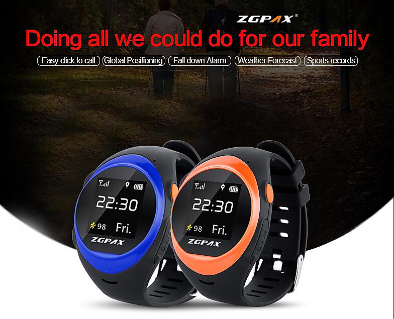 ZGPAX Kids Smart Watch SOS GPS S888 Smartwatch LBS WIFI Anti Failing Alarm Tracker For Man Woman Kids Birthday Christmas Gift