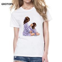 O Amor de mãe Feminino T-shirt Super Mama Verão 2019 Camisa Engraçada de T Mulheres Camiseta Roupas Da Moda Coreano Moda Streetwear Camisetas(China)