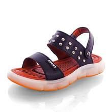 UncleJerry Led סנדלי עבור בנים ובנות USB טעינה נעלי ילדי זוהר נעלי ילדי קיץ נעליים(China)