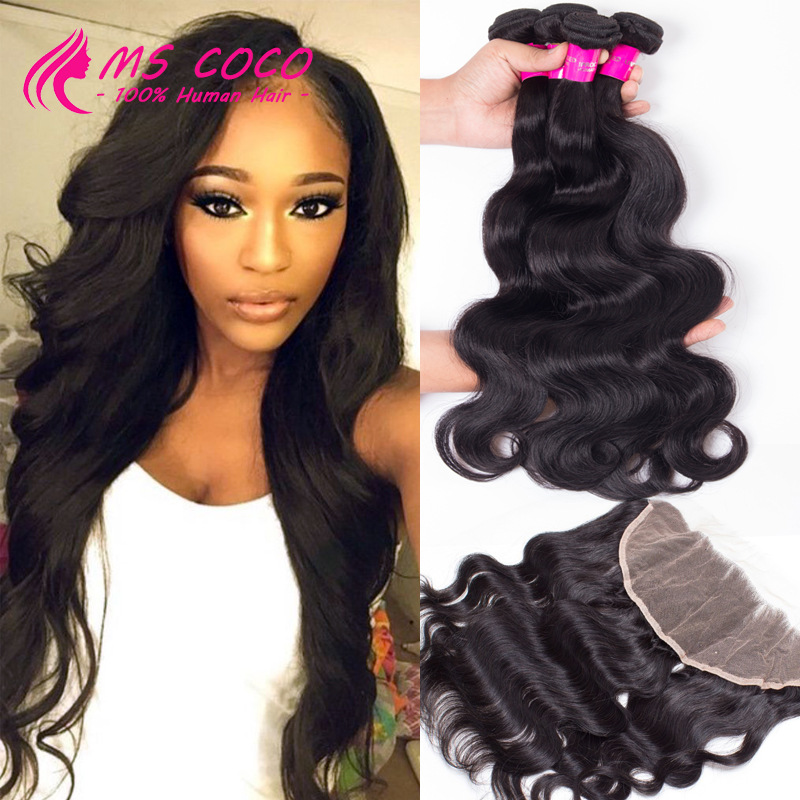 Ear To Ear Lace Frontal Closure With Bundles Amazing Hair Company With Closure Brazilian Virgin Hair With Frontal Closure Bundle(China (Mainland))
