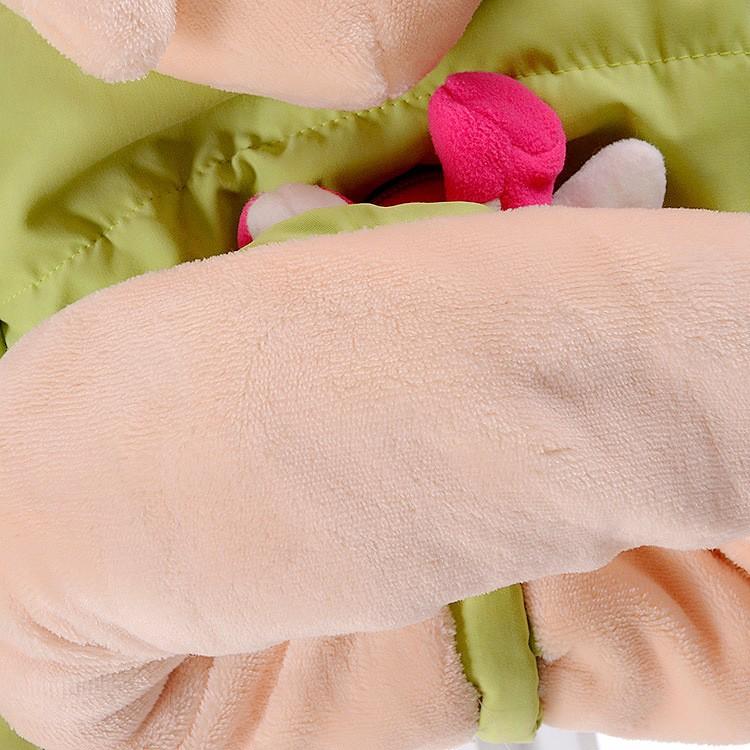 Скидки на Дети толстые зимнее пальто пальто 2016 женщин мультфильм ребенок флис с капюшоном ватник