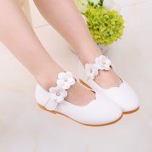ילדי ילדי נעלי בנות מזדמנים אופנה אביב לנשימה נעל מוצק פרח יחיד ריקוד וו & לולאה נסיכת נעל נעל(China)