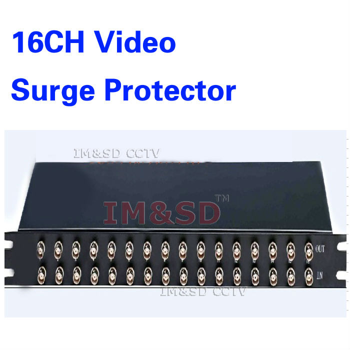16 channels CCTV BNC Coaxial Video Surge Protector,Protection device,Thunder Lightning Arrester,SPD ofr DVR system(China (Mainland))
