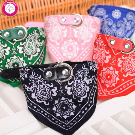 1Pc Lovely Pet Dog Scarf Collar Adjustable Puppy Bandana Quality Pet Cat Tie Collar(China (Mainland))