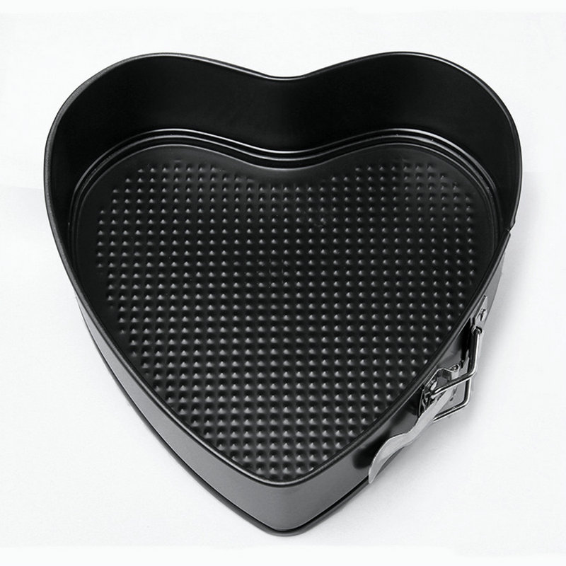 9 Inch Heart Shape Non-Stick Removable Bottom Cake Mold High Temperature Resistance Metal Cake Pan(China (Mainland))