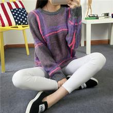 Sweater New Fashion 2016 Neck Pullover Sweater Knitting O-Neck Coat Slim Base Shirt Multicolor May Choose Genuine Mail(China (Mainland))