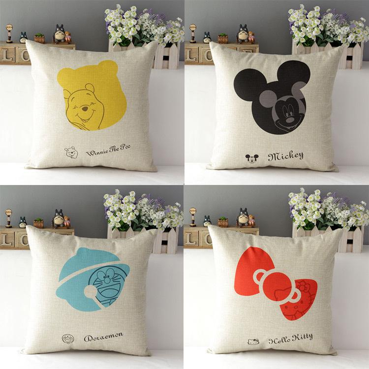 43*43cm Cartoon Cotton Linen Home Throw Pillow Case Cushion Cover Home Suppliers(China (Mainland))