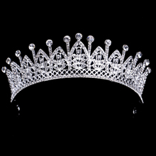 Silver Plated Vintage Crystal Rhinestone Prom Pageant Crowns For Women Wedding Bridal Tiara For Bride Hair Accessories(China (Mainland))