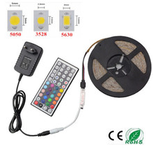 IP20 RGB LED Streifen Licht 5630 3528 5050 SMD Fita De Led Tiras String + 44 Keys Remote Controller + EU/Us-stecker 12 V 2A Netzteil(China (Mainland))