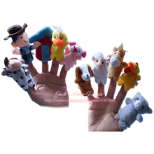 Finger Puppets Forest Farm Animals Finger Puppet Plush Toys A Very Nice Baby Toys As A Best Gift For Your Kids(China (Mainland))