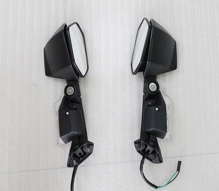 Black Integrated Turn Signals Mirrors Kasawaki ZX-10R ZX10R 2008 2009 2010
