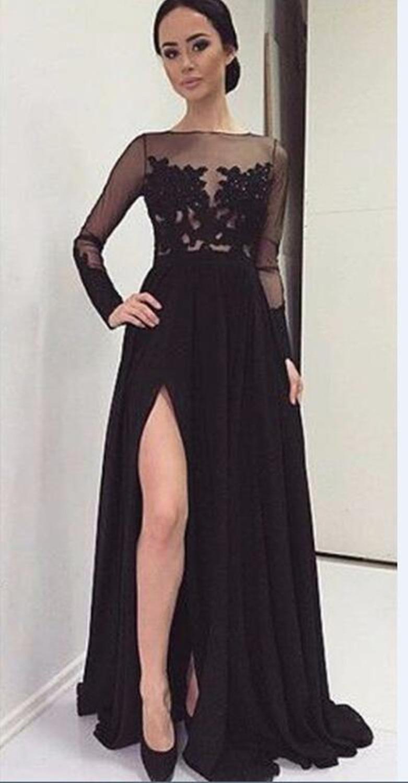 Vestidos largos fiesta negro