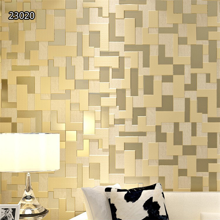 Modern mosaic design non woven wall paper for living room - Paper decorations for room ...