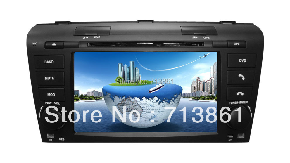7 inch car dvd player navigation Mazda 3 2004 2009 ,GPS,wince 6.0,2 zone,copy map,Bluetooth,TV,RDS,radio,Russian English,canbus - TONGTAI HONGKONG INDUSTRIAL CO.,LTD(shenzhen sale office store)