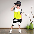 100 cotton brand High quality 2017 summer active striped sport kid children clothes girl boy clothing