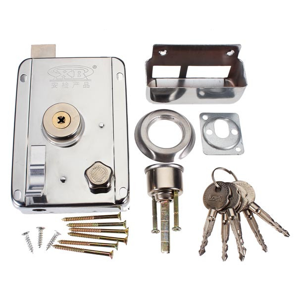 New Arrival Exterior Door Locks Security Anti-theft Lock Multiple Insurance Lock(China (Mainland))