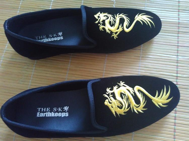 New men shoes luxury brand chaussure homme de marque mens velvet loafers