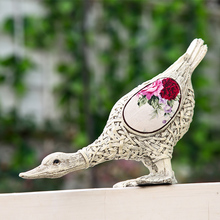Animal lovers duck ornaments outdoor furnishings creative pastoral style retro furnishings simulation duck ducklings