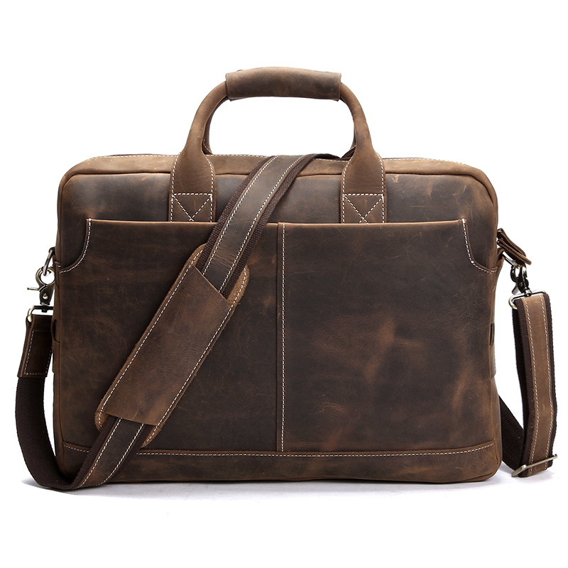 Crazy horse leather men's single shoulder bag briefcase restoring ancient ways computer baotou layer cowhide leather Handbags(China (Mainland))