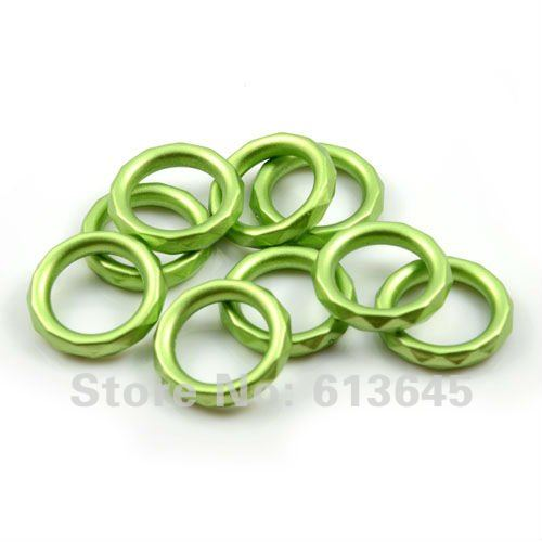 Free Shipping Wholesale 100PCS/LOT Green CCB Scarf Rings Pendants, Fashion DIY Jewelery Accessories Findings For Scarf, AC-0014D(China (Mainland))
