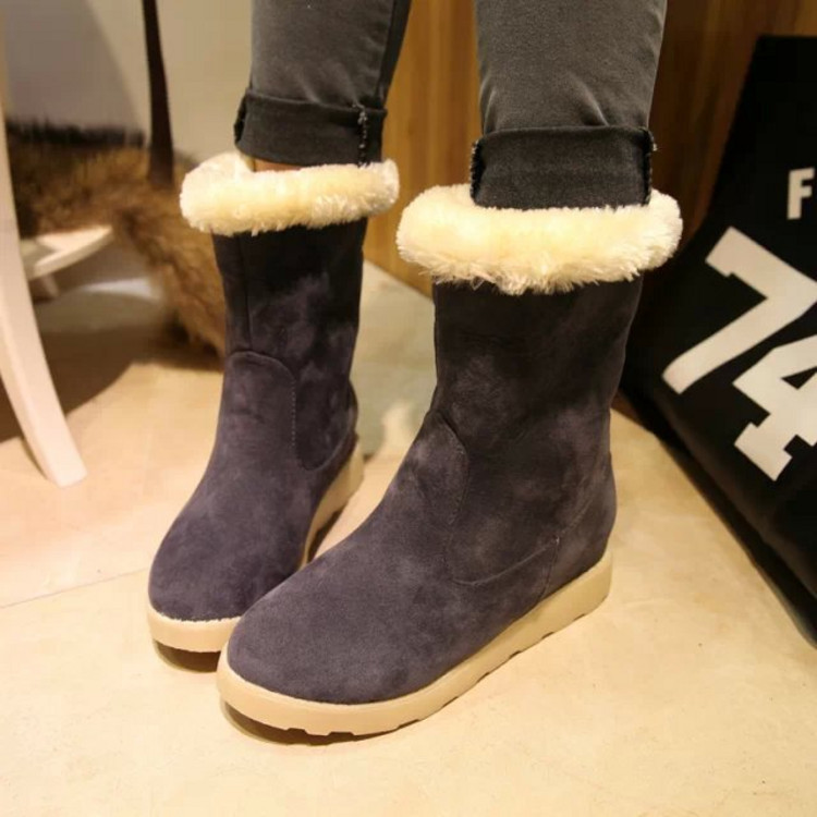 2015 new female boots fashion lady increased leisure barrel women shoes factory direct