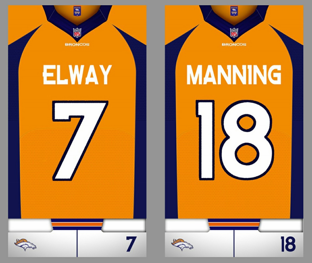 Free Denver Broncos towels ELWAY SANDERS MANNING MILLER THOMAS WARE beach towel American Football nfl bathtowel Custom name(China (Mainland))
