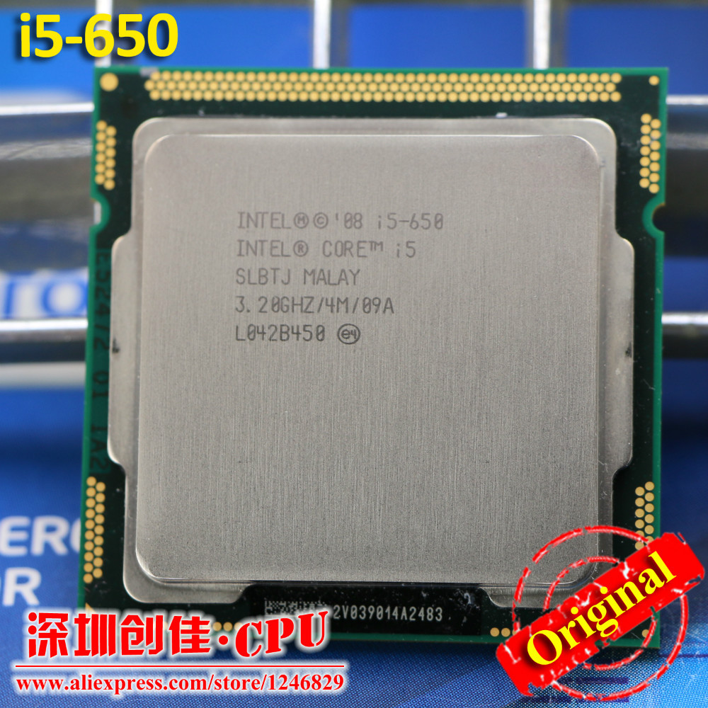 Free shipping Intel Core i5-650 Processor i5 650 3.2 GHz 4MB Cache Socket LGA1156 32nm 73W Desktop CPU scrattered pieces(China (Mainland))