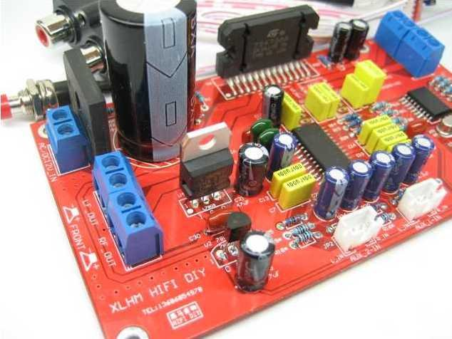 Free shipping-Finished board for TDA7388 41WX 4 channels car amplifier/home theater DIY board kits(China (Mainland))
