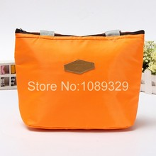 Hot Insulated Tinfoil Aluminum Cooler Thermal Picnic Lunch Bag Waterproof Travel Tote Box Fashion 5 Candy Colors Free Shipping(China (Mainland))