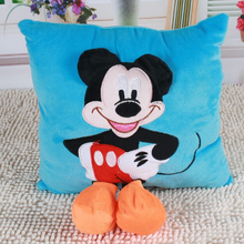 Hot 35*35cm 3D Mickey Mouse and Minnie Mouse Plush Pillow Cushion Cartoon Mickey and Minnie Plush Toys for Home Decoration(China (Mainland))