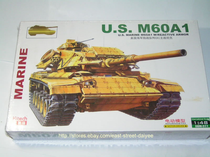 Kitech ZhengDefu 511 1/48 US M60 A1 Patton Main Battle Tanque Tank Char(China (Mainland))