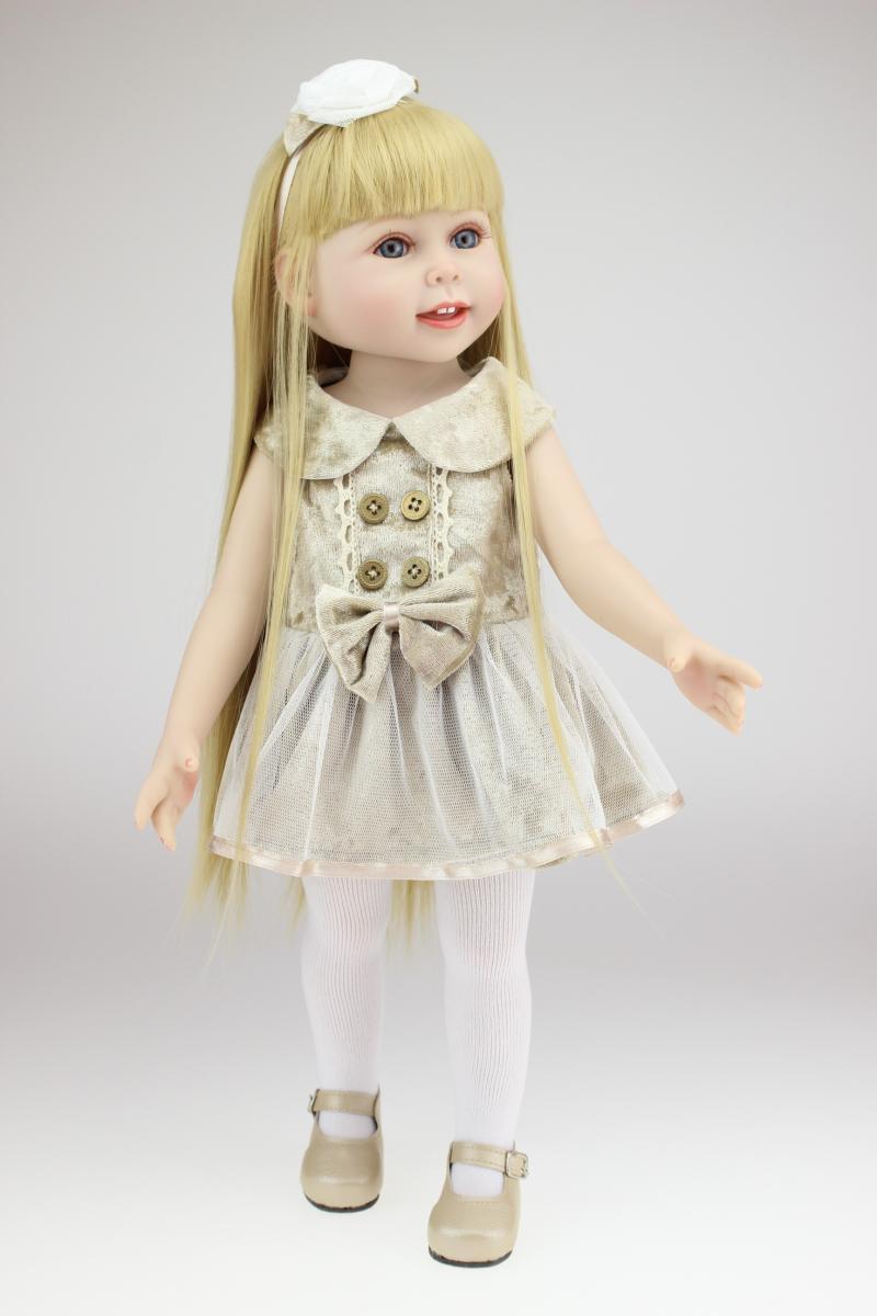 Pretty Vinyl Girl Doll with Cream Dress Beautiful Little ...