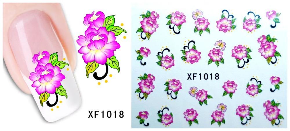 Fashion 1 piece 1Sheet 3D Design Tip Nail Art Nail Sticker Nail Decal carving white snow flower nail tools XF1018(China (Mainland))