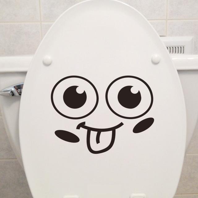 Язык усмешки переключатель наклейки салон туалет автомобиля стикер украшения дома детская комната на обои