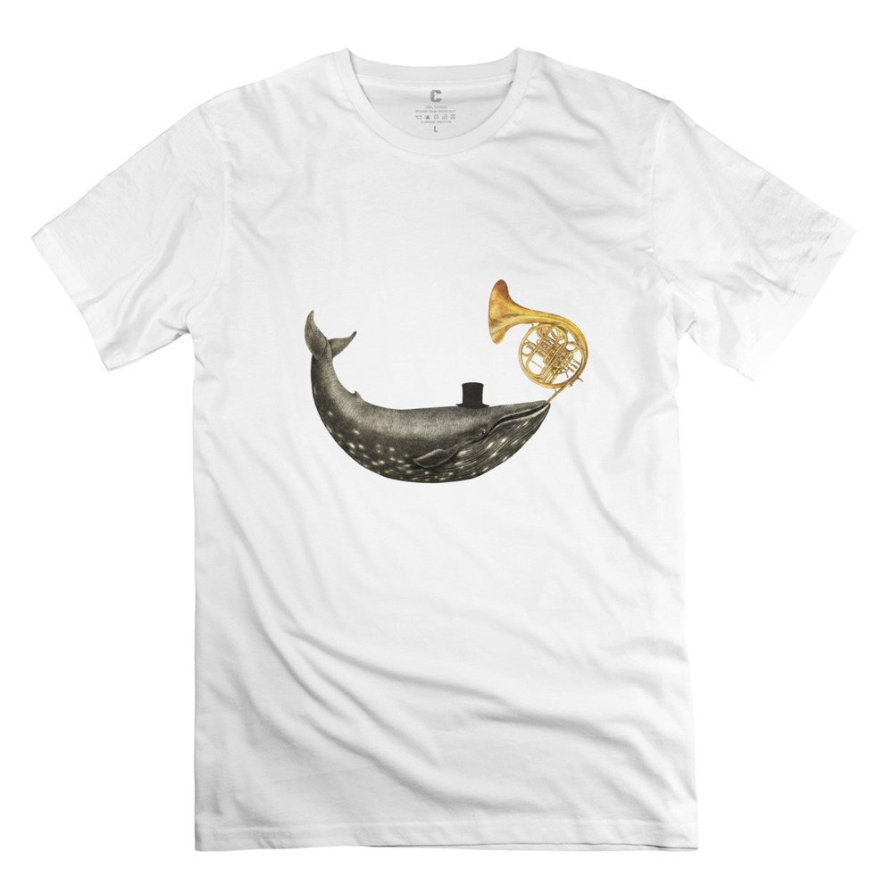 Round Neck Whale Song Men tshirt Famous Hip Hop boy's t shirts(China (Mainland))
