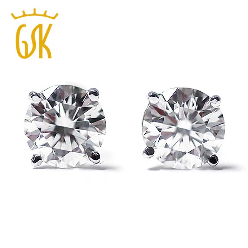 Здесь можно купить  0.20 Ct Round Cut 14K White Gold Diamond Stud Earrings  Ювелирные изделия и часы
