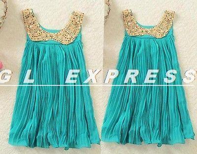 2014 Kids Toddler Girls Princess Braces Beach TuTu Dress Sundress Clothing(China (Mainland))