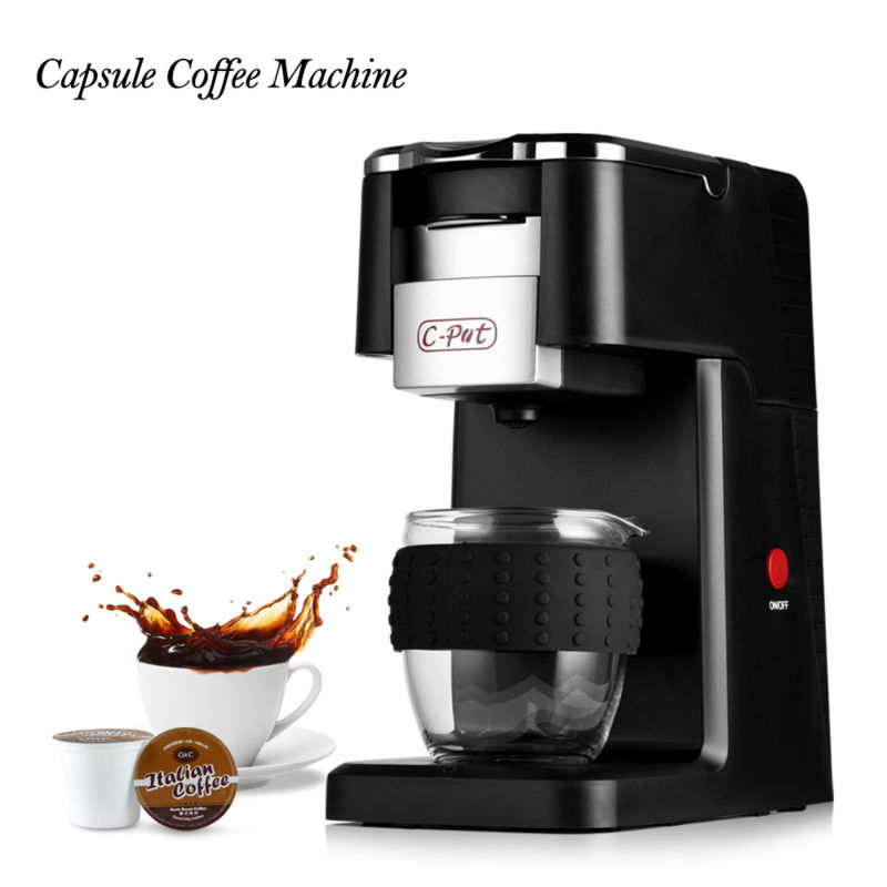 Coffee Maker Capsule Coffee Machine Capsule Type K-CUP Full-Automatic Espresso Cappuccino Coffee Machine Cafeteira Expresso(China (Mainland))