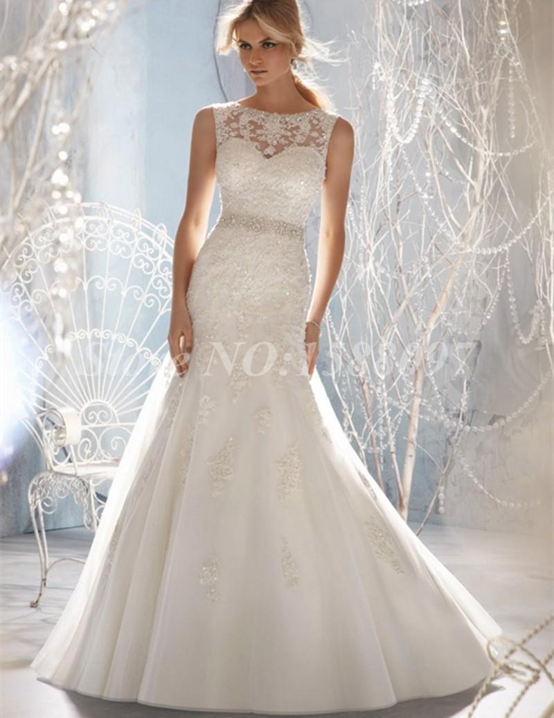 Sexy mermaid wedding dresses 2015 hot sale appliques for Mermaid wedding dresses on sale