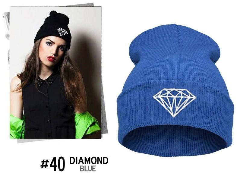 Brand New Gorros 2016 Fashion Beanie Men Casual Winter Hat Warm Diamond Knitted Hats For Women Hip Hop Skullies Beanies Toca