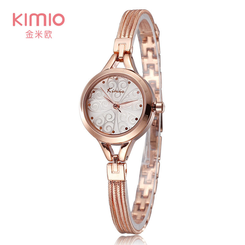 Гаджет  2015 Luxury Brand KIMIO Bracelet Watch Women Dress  Watch Quartz Analog Flower Solid Ladies Wristwatch None Часы