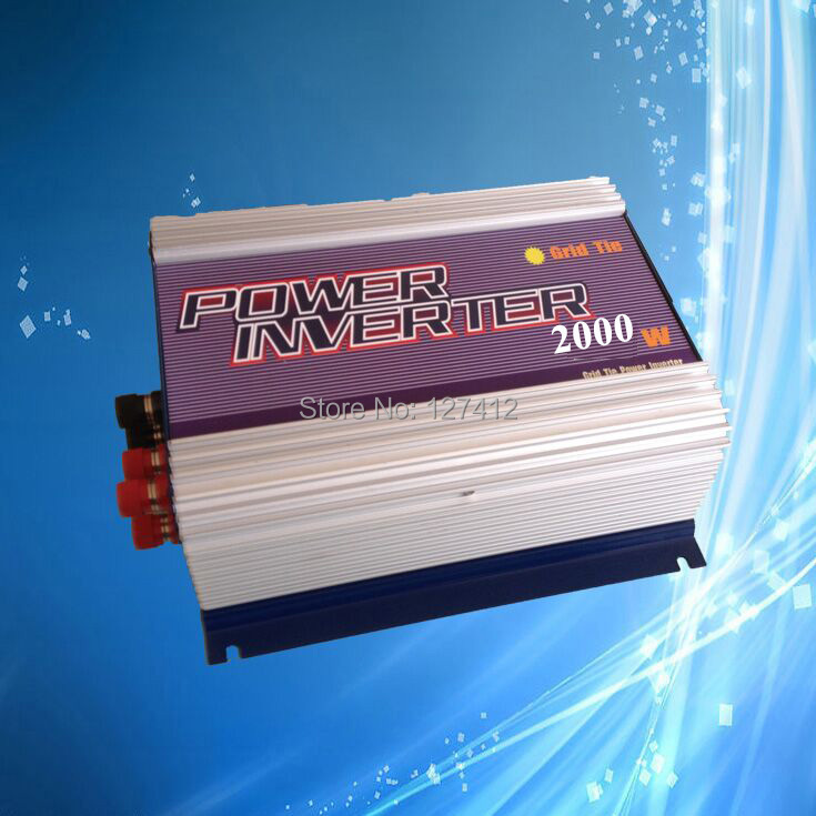 2000W Grid Tie Inverter for Wind Generator, 3 Phase AC45V-90V Input, 190V-260V Output, MPPT Function with Build in Controller(China (Mainland))