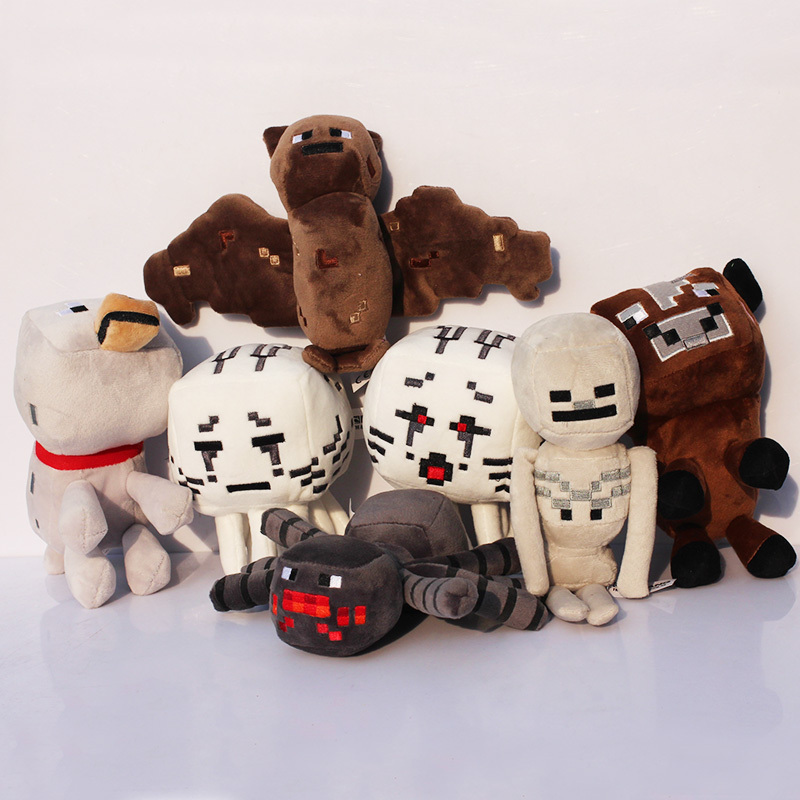 7pcs 15cm -23cm Minecraft plush Minecraft Ghast plush Large Ghast Special offer(China (Mainland))