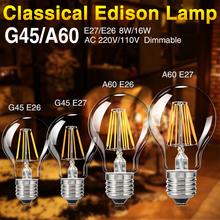 Buy TSLEEN e27 e26 dimmable filament led bulb novelty edison lights spot lamp g45/a60 cool white/warm white light for $2.63 in AliExpress store