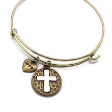 Simple Bangle Starfish Cross Hamsa Wire Charm Bracelet Femme Cuff Bracelets For Women Lovely Gift Famous Brand Jewelry(China)