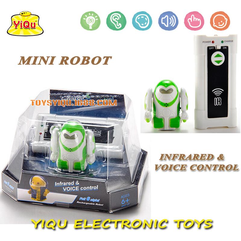 New IR Control & Sound Control Robot Electronic Toys Mini Intelligent Robot RC Toys Free Shipping YQ88192-3(China (Mainland))