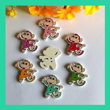 Buy Monkey Shapes Mix 30pcs white Flatback Wooden buttons Hand made Craft Scrapbooking Sewing accessories botones decorativos 24*29 for $2.20 in AliExpress store