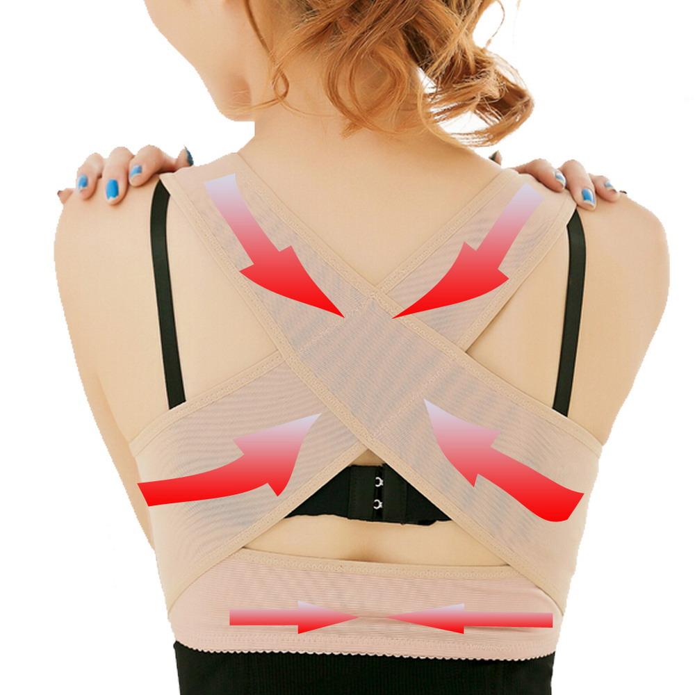Hopeforth Adjustable Women Back Support Belt Posture Corrector Brace Support Posture Shoulder Corrector Health Care(China (Mainland))