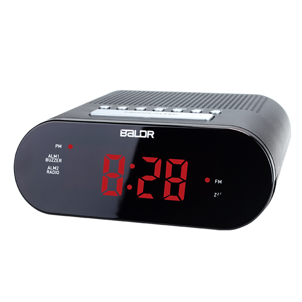 Digital FM Radio Alarm Clock Red LED Display Dual Alarm Buzzer Radio Snooze 100-240V Despertador Desktop Table Clocks reloj(China (Mainland))